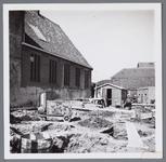 WAT001003027 Sloop van de gebouwen van het secretariaat Beemsterpolder.Links de Gereformeerde Kerk.
