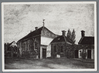 WAT001003039 Oude Lutherse kerk aan de Hoogstraat 18 te Purmerend, bouwjaar 1712, achterste gedeelte gesloopt in 1877. ...