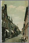 WAT001003052 Begin van de Hoogstraat gezien vanaf de Nieuwstraat met links achter de kerktoren van de Lutherse ...