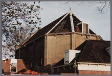 WAT001003315 Achtergevel Doopsgezinde kerk, Kanaalstraat 10, architect Dorland.Buiten gebruik 1988, toen de ...