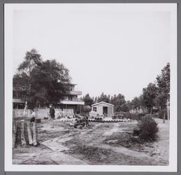 WAT001003320 In de naoorlogse jaren kende het Stadsziekenhuis verschillende uitbreidingen. Hier de bouw van de polikliniek.