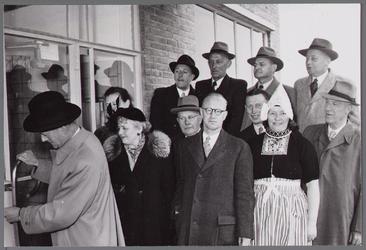 WAT001003457 Officiële opening op 9 april 1953 van het nieuwe veilingcomplex van Afslagvereniging Beemster,Purmerend en ...