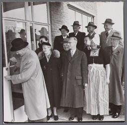WAT001003459 Officiële opening op 9 april 1953 van het nieuwe veilingcomplex van Afslagvereniging Beemster,Purmerend en ...