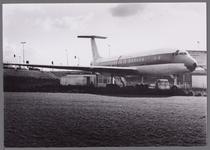 WAT001003480 Leegwaterpark met een vliegtuig(DC8-55), waar o.a. een pannekoekenrestaurant, een partycentrum, een ...