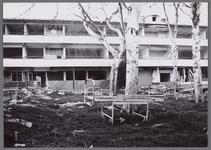 WAT001003878 De sloop in 1990 van het Stadsziekenhuis. Hier de rechtervoorkant.