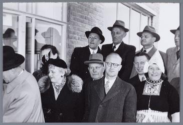 WAT001004889 Officiële opening op 9 april 1953 van het nieuwe veilingcomplex van Afslagvereniging Beemster,Purmerend en ...