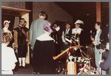 WAT001005279 Officiële opening van het jubleumjaar door commissaris der Koningin drs. R. J. de Wit, vrijdag 13 april ...