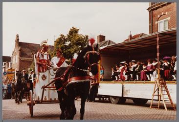 WAT001005547 Purmerend 500 jaar marktstad.Dag aangespannen paard.