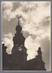 WAT001008829 Stadhuistoren van het neorenaissancistisch stadhuis van Purmerend, gebouwd in de jaren 1911-1912 naar ...