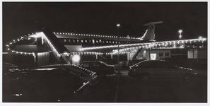 WAT001009217 Restaurant in een vliegtuig (DC8),Leeghwaterpark bij nacht.