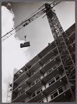 WAT001009347 Bouw torenflats Meteorenweg.Laatste verdieping tweede flat.