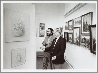 WAT001014428 Opening tentoonstelling 'amateursschilders in Waterland' in het Purmerends museum van 17 december 1988 tot ...