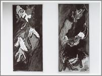 WAT001014511 Foto:Werk van Jan Sierhuis.Tentoonstelling In Museum Waterland. Aart Roos en zijn klasgenotenhebben elk ...