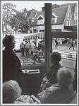 WAT001015653 Uitzicht vanuit de Avondzon op het kruispunt Nieuwstraat, Hoogstraat-Gouw.