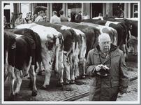 WAT001016216 Franse toerist op koemarkt. Kiekjes maken.