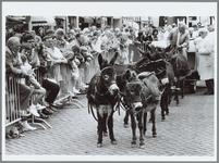 WAT001016238 Boer Laan uit de Beemster laat zijn zes ezeltjes het 'zware' werk doen.De boer vervoerde gisteren tijdens ...