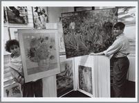 WAT001016353 Winkel met repro's van de schilder Vincent van Gogh.