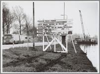 WAT001017176 Bord langs de Jaagweg met de volgende tekst Provincie Noord-Holland, dienst wegen, verkeer en vervoer, ...