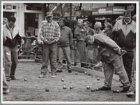 WAT001017416 Foto: Wedstrijdbeeld van het Marktstadtoernooi op de Kaasmarkt in Purmerend.Henk Timmer en Jaap Timmermans ...