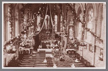 WAT002001353 Interieur van de Rooms Katholieke H. Maria Magdalenakerk, gebouwd in 1869 ter vervanging van een ...