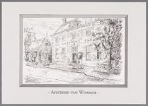 WAT002001534 Reproductie van een litho gemaakt door Theo Blankestijn in opdracht van het gemeentebestuur van Wormer.Dit ...