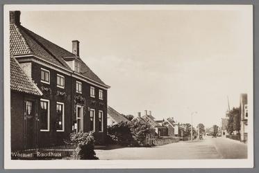WAT002001550 Het oude raadhuis van Wormer, gebouwd als koopmanshuis omstreeks 1660.Vanaf 1818 in gebruik genomen als ...