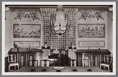 WAT002001563 Interieur raadzaal.Het oude raadhuis van Wormer, gebouwd als koopmanshuis omstreeks 1660.Vanaf 1818 in ...