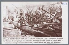 WAT002001855 In de nacht van 1 op 2 november 1927 brandde te Wormer de autogarage van de firma Fontijn tot op de grond ...