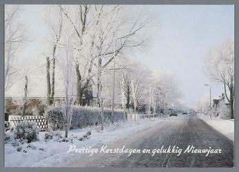 WAT002001919 Kerstkaart met een afbeelding van de boerderij van familie Toon Kramer.Kramer, Toon