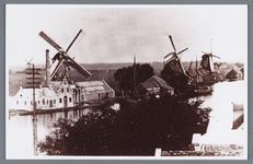 WAT002002224 Richting Bartelsluis.Foto links achter: molen '' De Wandelaar'', vooraan v.l.n.r.; molen ''De Witte ...