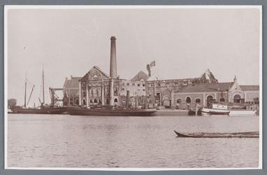 WAT002002315 Stoomoliefabriek ''De Liefde'' van Simon Prins.De fabriek werd in 1852 in gebruik genomen nadat de molens ...