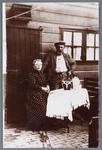 WAT002002469 Foto v.l.n.r.; Maria Bruschke met haar man Gerrit Grandiek (Bello alias Victor Hugo). Gerrit was ...