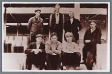 WAT002002541 Papierfabriek Van Gelder.Foto achterste rij v.l.n.r.; D.Bien, J.Randshuizen en Battem.