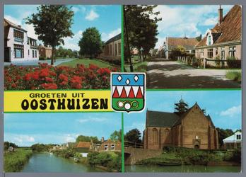 WAT002002991 Foto rechts boven, stolpboerderij aan het Westeinde te Oosthuizen.Links boven, pand rechts; Openbare ...
