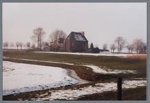 WAT002003049 Kerk van Etersheim.De eerste kerk van Etersheim is samen met het oude dorp verzwolgen in de toenmalige ...