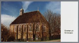 WAT002003075 Kerk Schardam.De eerste eredienst in de voormalige Hervormde kerk in de Nederlandse plaats Schardam werd ...