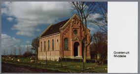 WAT002003088 De doopsgezinde kerk van Middelie;De doopsgezinde kerk van Middelie, in de Nederlandse gemeente ...