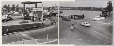 WAT001017741 Vernieuwde Sluisbrug met gezicht op Purmerend-west.Foto genomen vanaf de Neckerdijk.Midden voor: ...