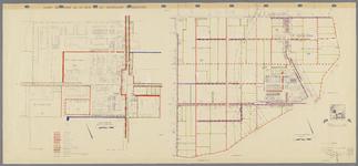 WAT001020448 Kadastrale kaart van de Beemster, secties K (Middenbeemster) en D (Zuidoostbeemster) met in kleur ...