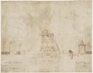 WAT001021067 Eigenhandige tekening van Jan Adriaansz. Leegwater van Beemster watermolen