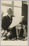 WAT001018137 Opening rusthuis De Keern (nu Oude Keern). De oorkonde werd voorgelezen door burgemeester G.G.Post.