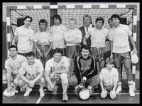 WAT003002853 Tros-team tijdens zaalvoetbalgala voor De Vriendschap.