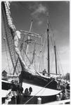 WAT003002935 Foto: de Storebaelt , een historisch tweemast zeilschip (1928) die op donderdag 28 april 1994 in de haven ...