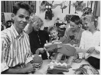 WAT003003714 Directeur H. Oudega van de Nieuwe Gouwschool.( informatie uit de NNC van woensdag 8 juni 1988 )