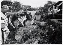 WAT003003901 Foto: 100 jarige wilg omgewaaid tijdens een najaars storm. Buurtbewoners ontfermden zich over het hout. ...