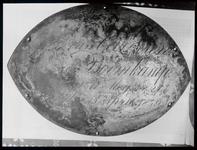 WAT003003931 Graf 9 koperen grafplaat op de kist van Geertruida Maria van Garderen-Boornkamp (1826 - 1859 ...