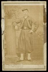 WAT003004480 Foto: Gerrit Heijne in dienst als zouaaf voor de paus in Rome.De pauselijke zouaven of zoeaven probeerden ...
