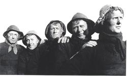 WAT006003865 Kees de Boer, Kleine Kees, Dirk de Spauter, Kees de Boer, Klaas de Boer de Tien Cornelis de Boer (Kees van ...