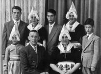 WAT120001078 Gezin. (E571E).Bruining Steur (Bruin van Jan van Bruin), grossier. geboren 06-06-1907 te Volendam, ...