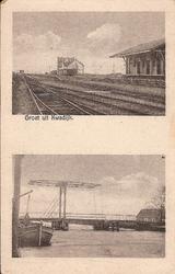 WAT120001355 OQ Dorpsbeelden/OQ D0012 - Na 1922, station, goederenloods en brug.